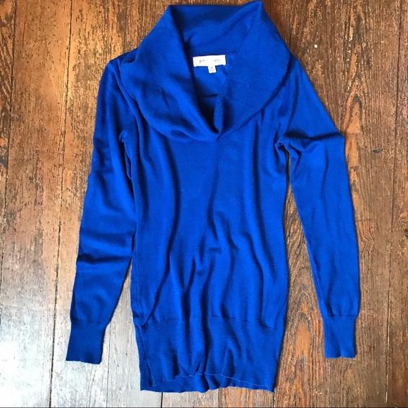 effdd8cc04  Philosophy  Royal Blue Cowl Neck Sweater